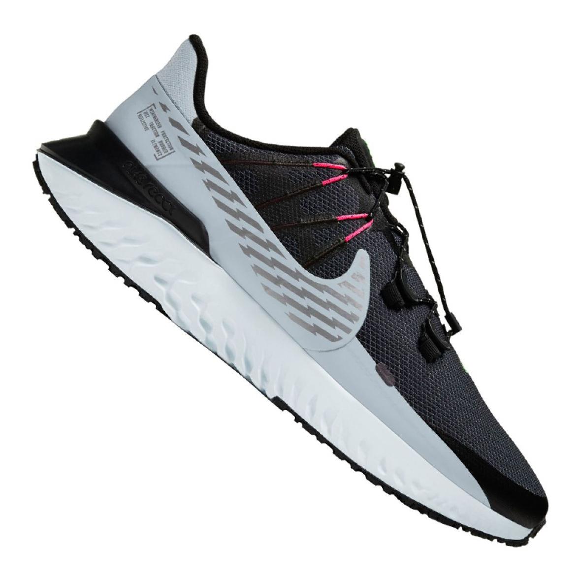 Nike Legend React 3 Shield M CU3864-010 running shoe grey - KeeShoes