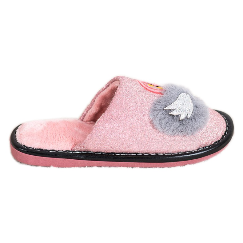Bona Stylish Slippers With Application pink