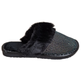 Bona Comfortable Slippers With Fur black