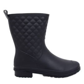 Black DC06 Black quilted women's galoshes