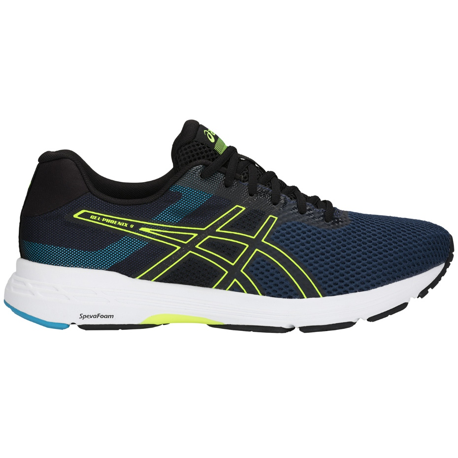 Asics Gel Phoenix 9 T822N 400 men's running shoes black navy yellow