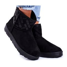 Women's Black Warm Snow Boots Big Star GG274556