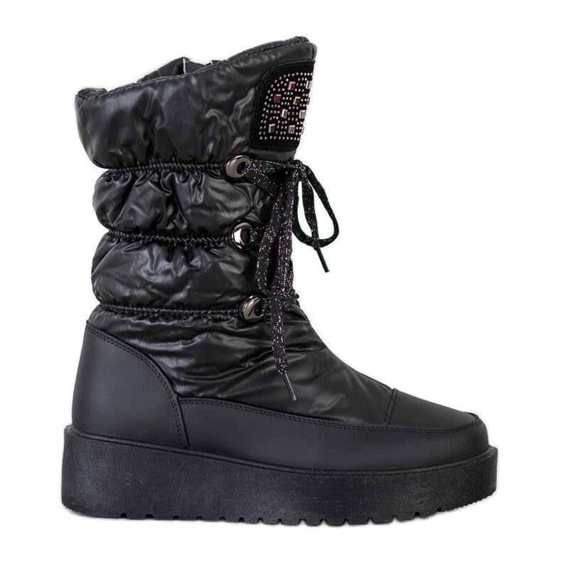 SHELOVET Stylish Snow Boots On The Platform black