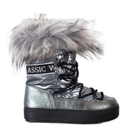 SHELOVET Snow Boots On The Platform silver grey