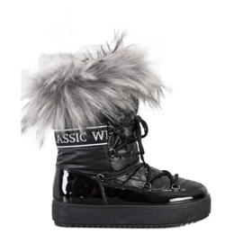 SHELOVET Snow Boots On The Platform black