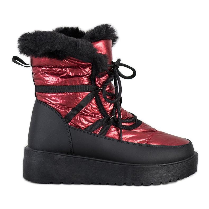 SHELOVET Snow Boots On The Platform black red