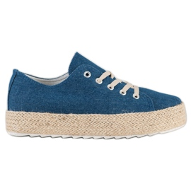 Kylie Sneakers On The Platform blue
