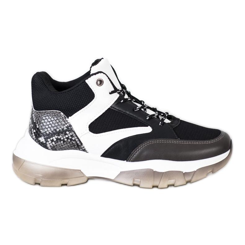 SHELOVET Casual Sneakers white black grey