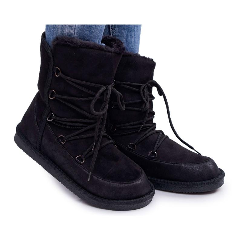 HAN Women's Ankle Boots Insulated Fur Black Ilana