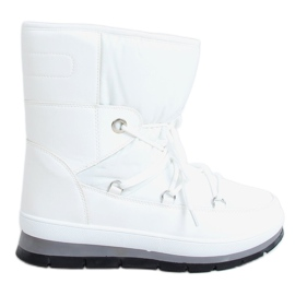 Women's white snow boots BY-1961 White