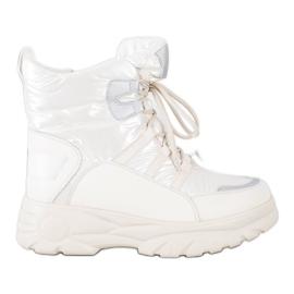 SHELOVET Warm sports snow boots white silver