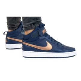 Nike Court Borough Mid 2 Jr CD7782-400 shoes black navy blue