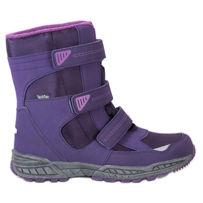 SHELOVET Snow boots. Velcro violet