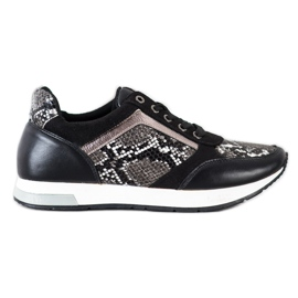 Kylie Fashionable Sneakers white black grey