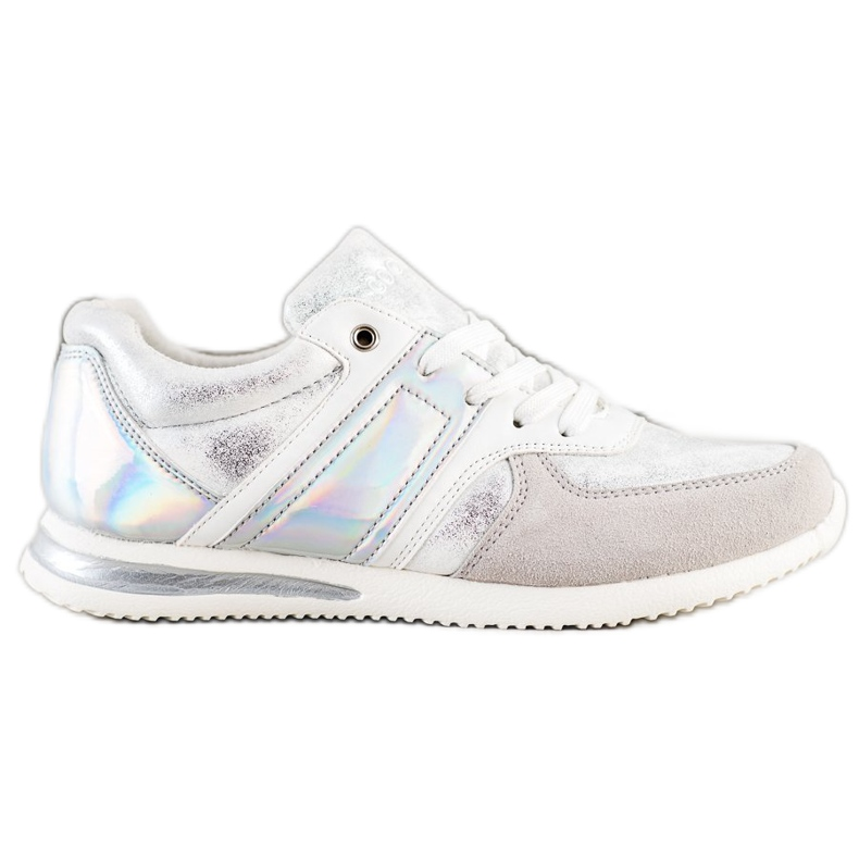 Goodin Stylish Sport Shoes white silver grey
