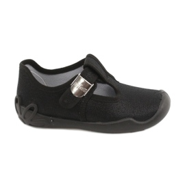 Befado children's shoes blanka black 115X006 silver