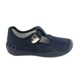 Befado children's shoes blanka navy blue 115X005 silver