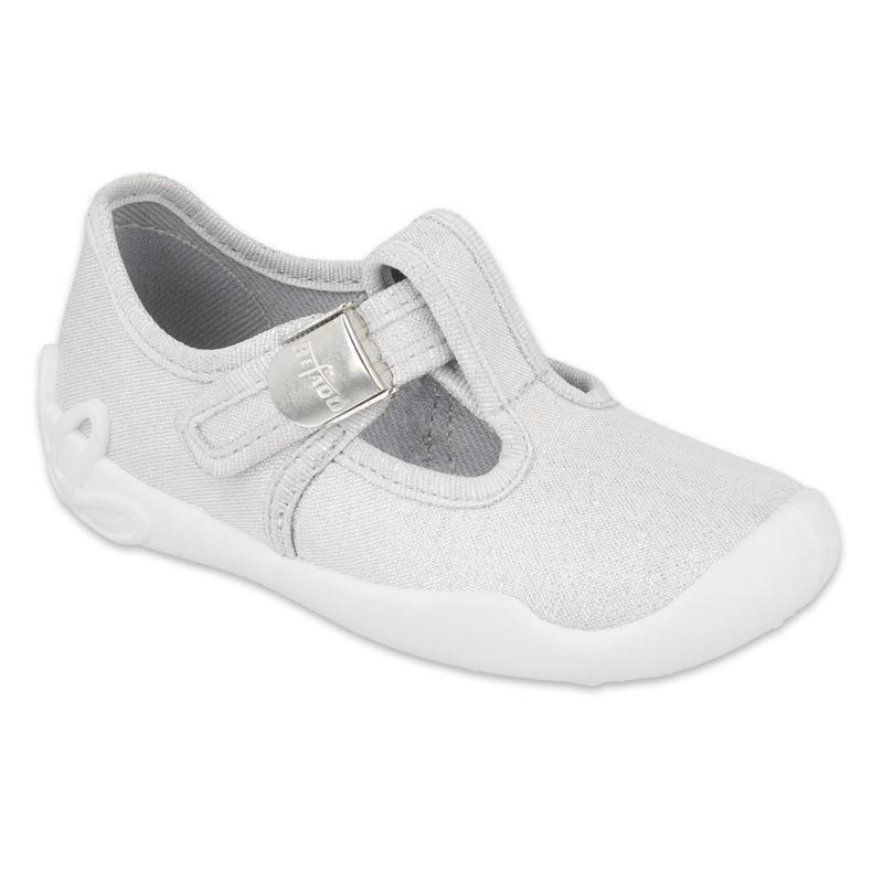 Befado children's shoes silver blank 115X001 grey