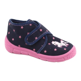 Befado children's shoes 538P015 navy pink multicolored