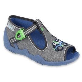 Befado children's shoes 217P109 grey multicolored green