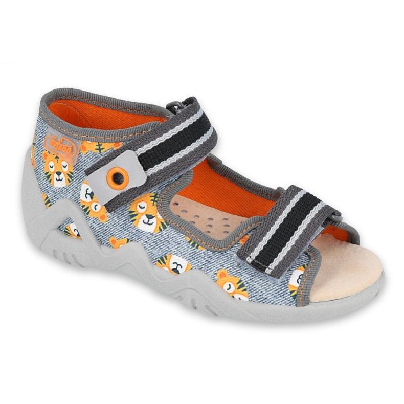 Befado yellow children's shoes 350P016 grey multicolored