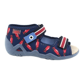Befado yellow children's shoes 350P018 red navy