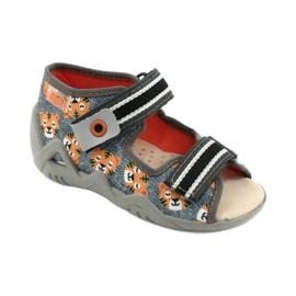 Befado yellow children's shoes 350P016 orange grey