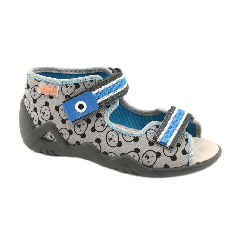 Befado yellow children's shoes 350P017 black blue grey