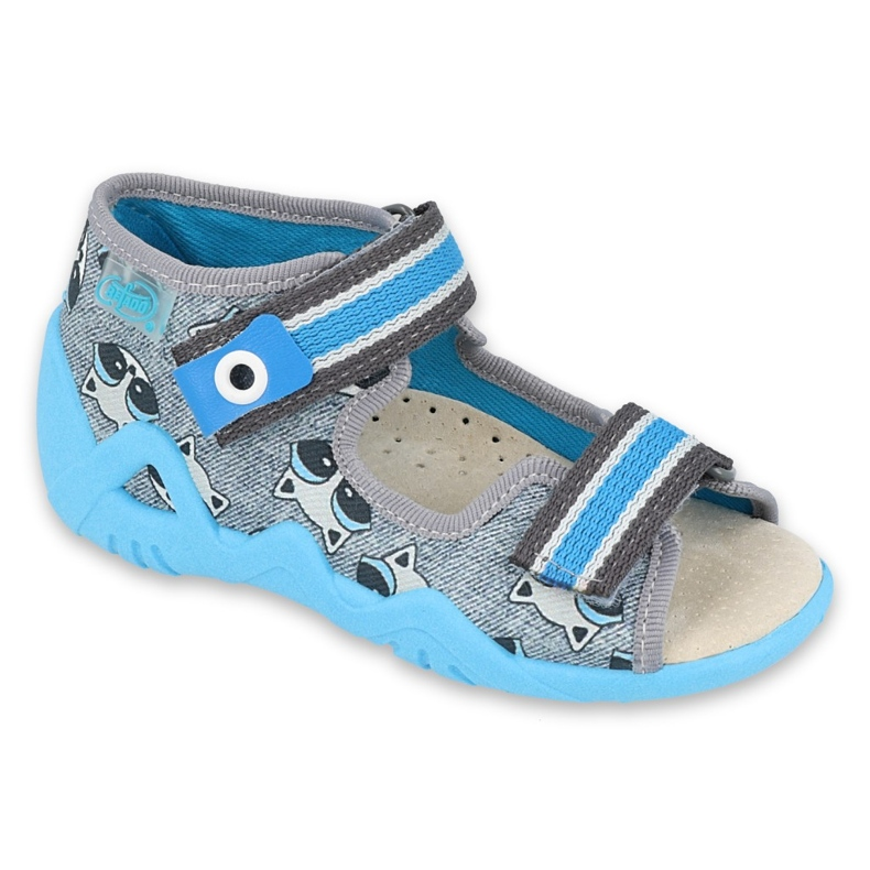 Befado yellow children's shoes 350P022 blue grey