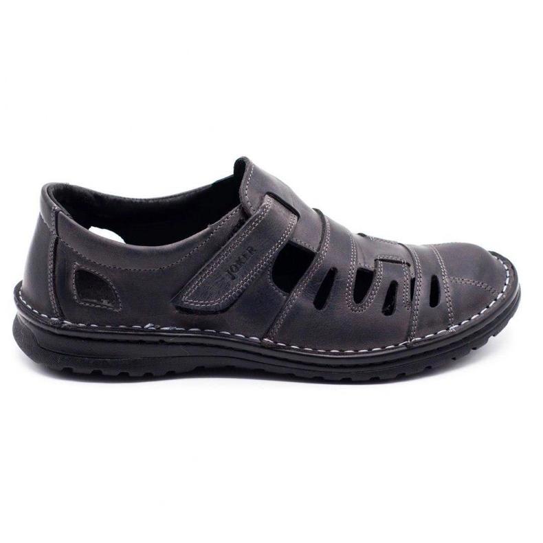 Joker Men's openwork shoes 501 gray grey