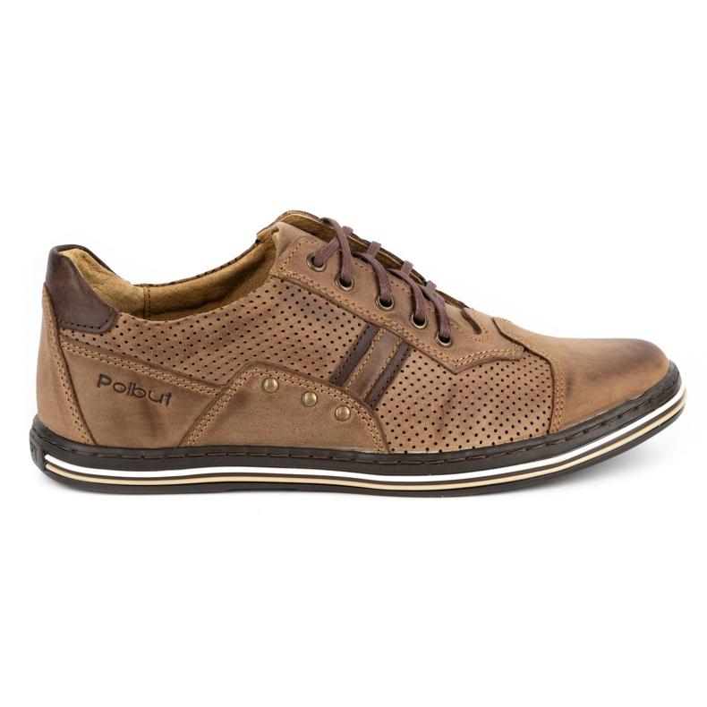 Polbut Casual men's shoes 1801P brown