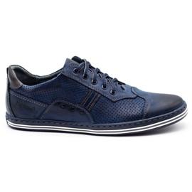 Polbut Men's casual shoes 1801P navy blue