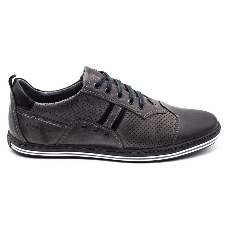 Polbut Men's casual shoes 1801P gray grey