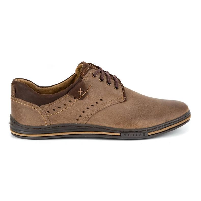 Polbut Casual men's shoes 402 brown