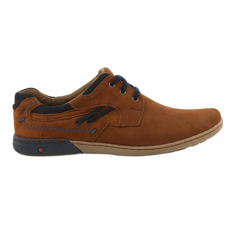 KOMODO Casual men's shoes 861L red multicolored