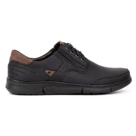 Polbut Black casual men's shoes J55