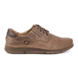 Polbut Casual men's shoes J55 brown
