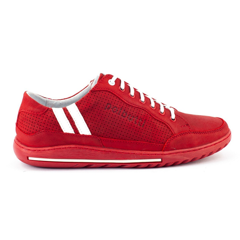 Polbut Casual men's shoes JOK31 red