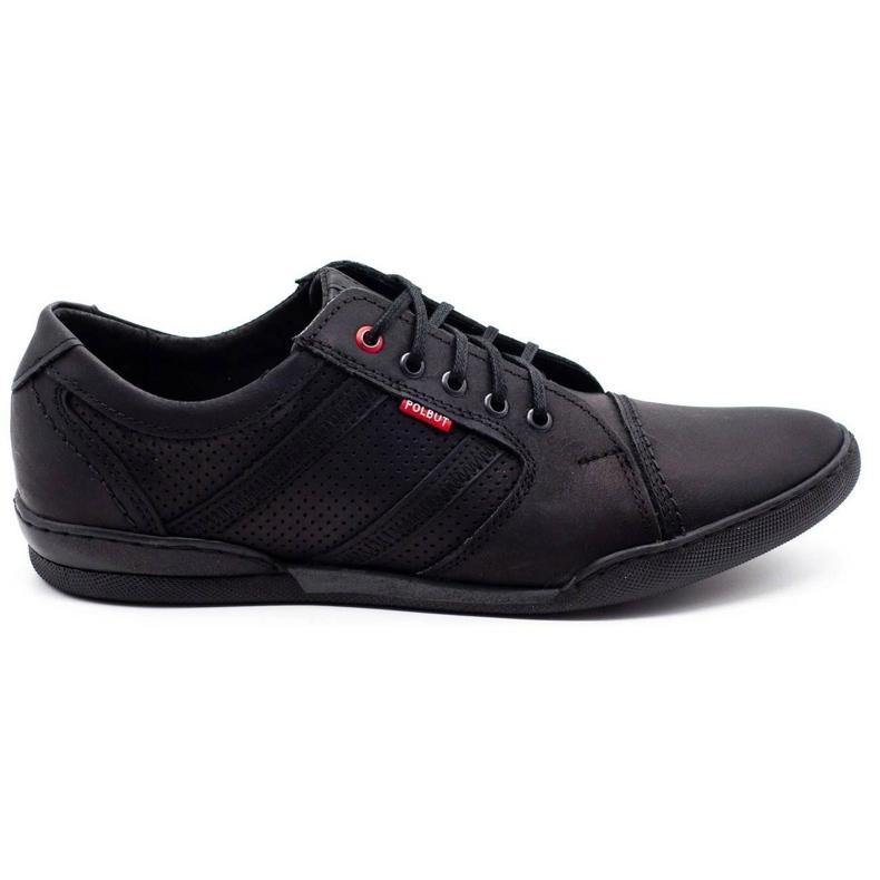 Polbut Men's casual shoes R3 Perforation Black