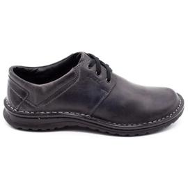 Joker Men's leather shoes 229 gray grey