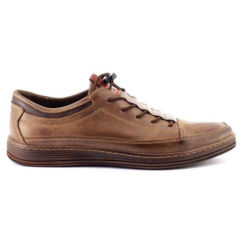Polbut Men's leather casual shoes K22 brown