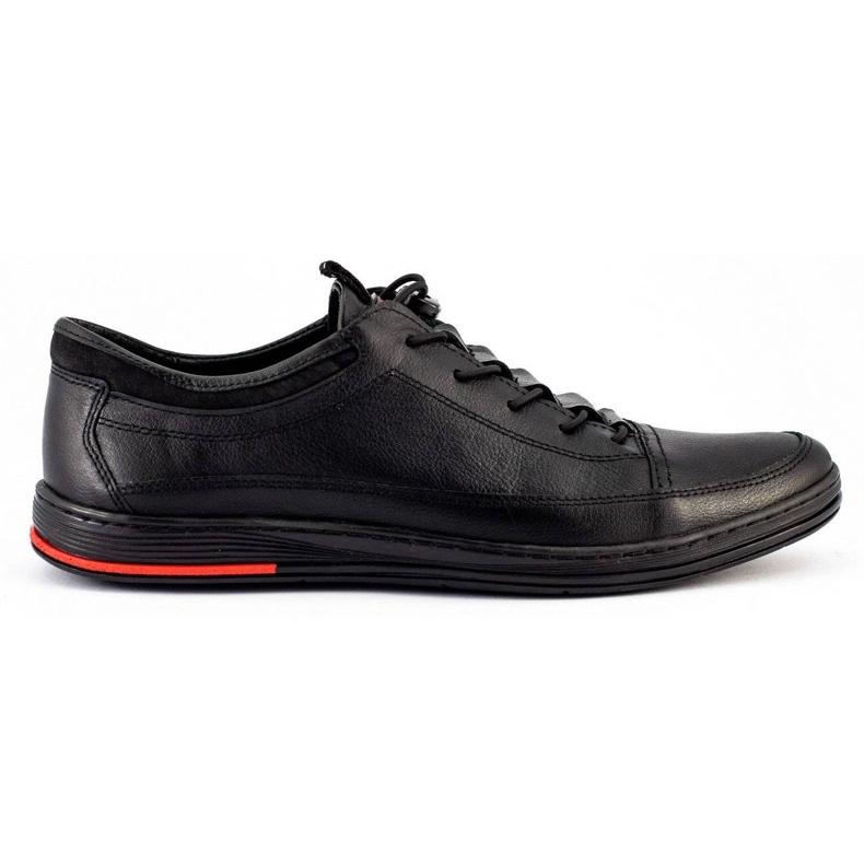 Polbut Black men's casual leather shoes K22