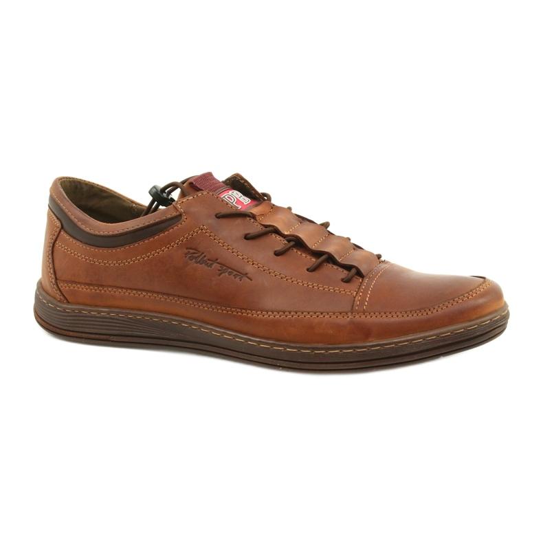 Polbut Men's leather casual shoes K22 light brown
