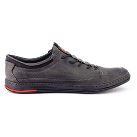 Polbut Men's leather casual shoes K22 gray grey