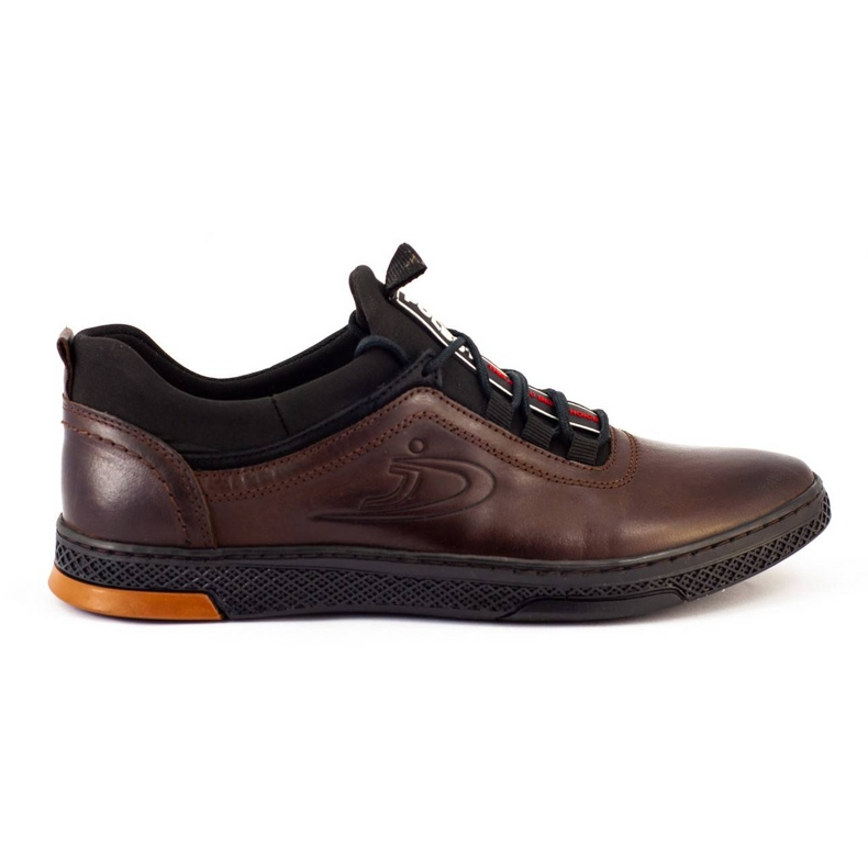 Polbut K24 brown casual leather men's shoes