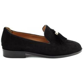 Lizard Black loafers 04642 for women