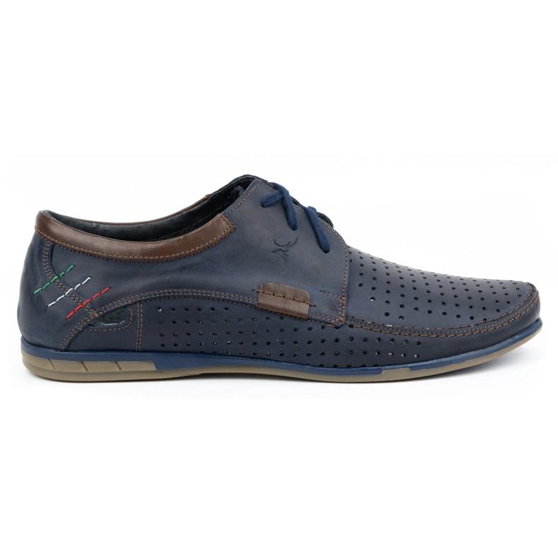 Mario Pala Men's openwork shoes 563 navy blue