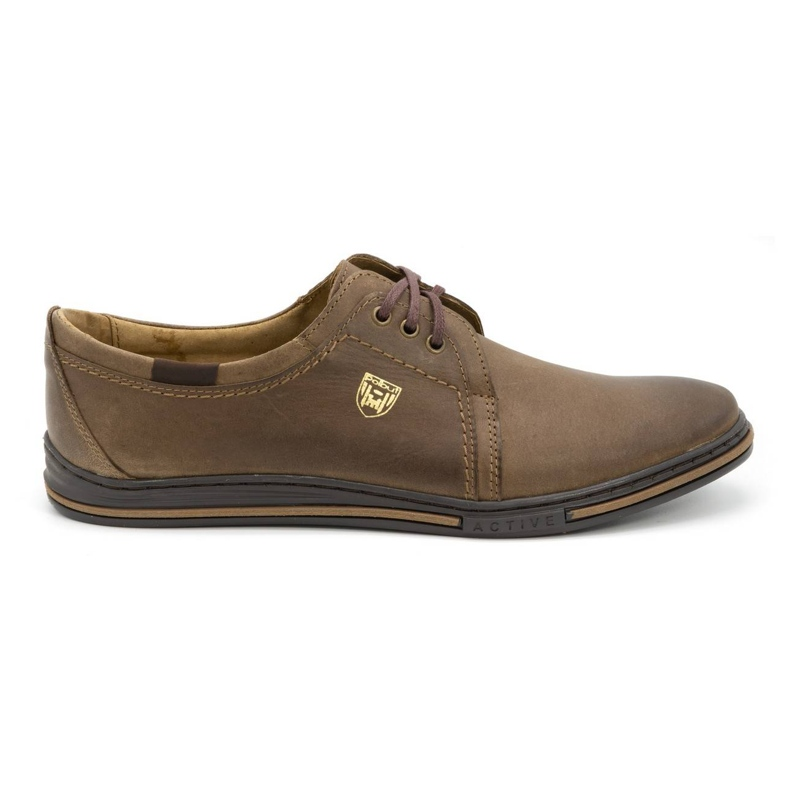 Polbut Leather shoes for men 343 brown