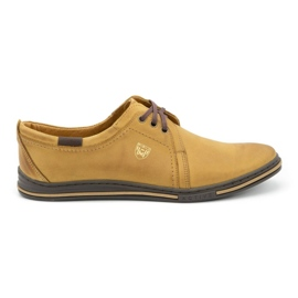 Polbut Leather shoes for men 343 red multicolored
