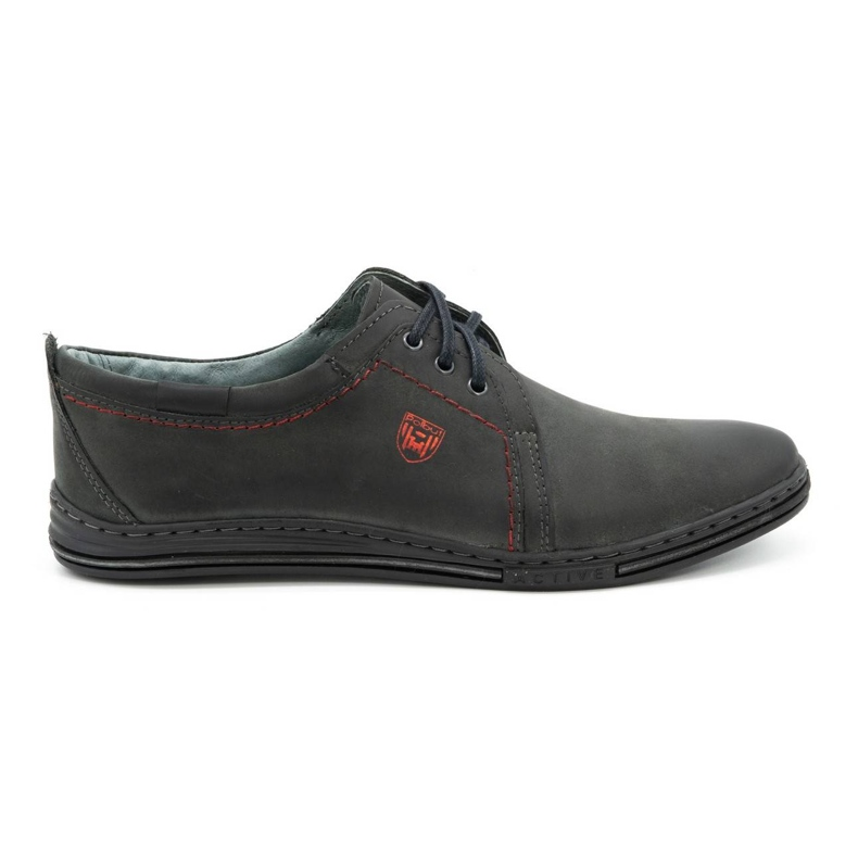 Polbut Leather shoes for men 343 gray grey